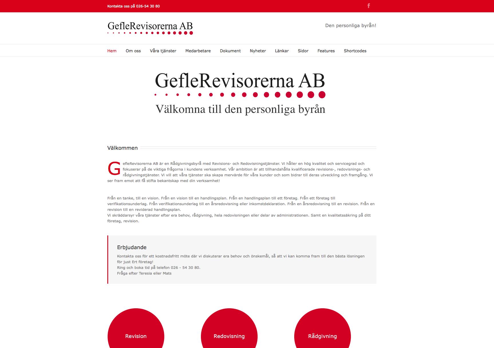 Ny webbplats för geflerevisorerna