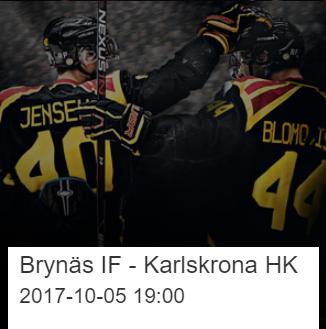 Var med i utlottningen av två st Brynäsbiljetter